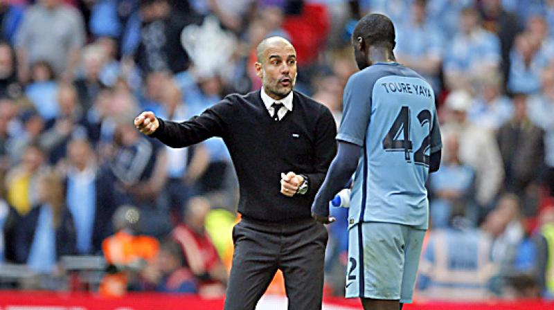 "During his outburst, Toure said he wanted to smash ""the myth"" surrounding Guardiola. (Photo: AP)"