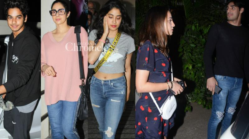 Bollywood star kids were on the paparazzi's spotlight on Wednesday night as they stepped out with their rumoured partners in Mumbai. (Photo: Viral Bhayani)
