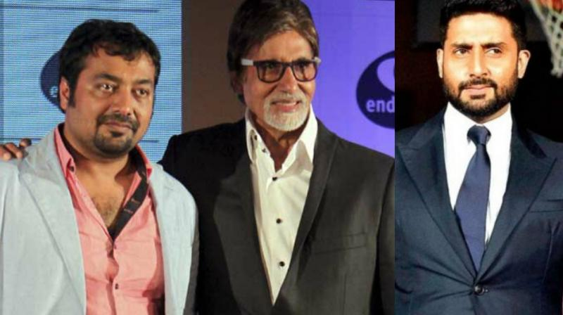 Anurag Kashyap, Amitabh Bachchan and Abhishek Bachchan.