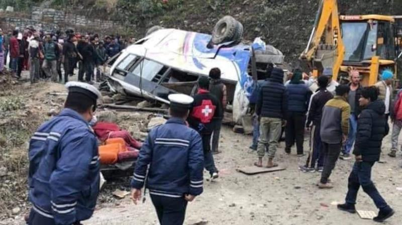 The pilgrims were returning home after visiting the famed Hindu Kalinchowk Bhagwati temple when the bus veered off the highway about 80 kilometers east of the capital Kathmandu police official Prajwal Maharjan said