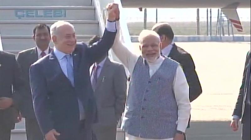Israel PM arrives in Delhi, to be received by Modi at airport