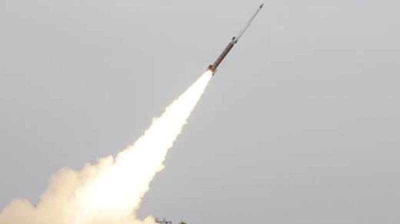 The state-of-the-art missile, which can be deployed from multiple platforms, was test-fired at 11.44 am from launch complex-3 of the Integrated Test Range (ITR) at Chandipur near here, sources in Defence Research and Development Organisation (DRDO) said. (Representational Image)