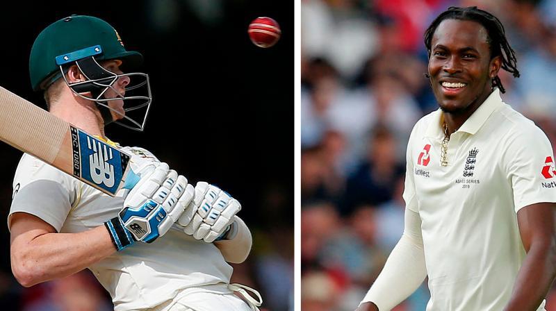 Both Smith and Archer were engaged in an intense battle in the second Test match, and the former was hit on the neck by a bouncer bowled by the latter. (Photo: AFP)