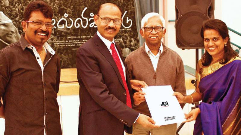 One of the producers Nirupama said that the proceeds from special screenings of the Tamil feature film would be donated towards the Harvard Tamil Chair.