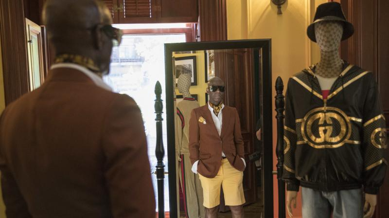 In this Thursday, July 19, 2018 photo, designer Dapper Dan is seen at his atelier in the Harlem neighborhood of New York. Harlem designer Dapper Dan spent years in the 1980s with a client list that included the who's who of hip-hop before legal issues over the clothes he was making got in the way. (Photo: AP)