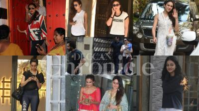 It was an eventful day for Kareena Kapoor Khan as she switched from gym to spending time with husband Saif and Taimur and then celebrating Diwali with friends. Not only that some more celebs were spotted in the day, looking hotter than ever!