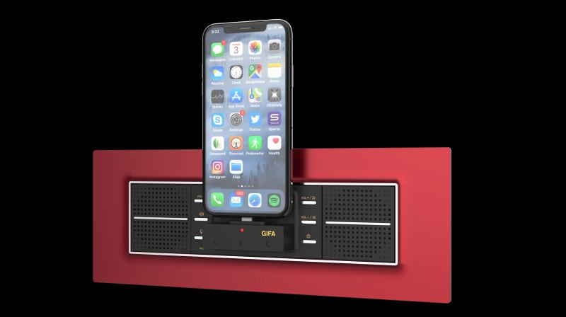 Goldmedal's i-Dock player lets you charge your iPhone / iPod device as well as play music stored.