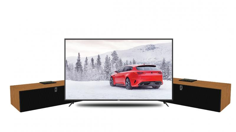 The brand is offering 2 posh speakers for the customers who purchase the range above which ranges from 43 inch to 55 inches. (Photo: Detel 49inch TV)
