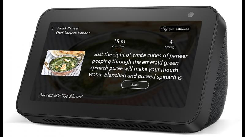 With its 5.5-inch display, rich sound, HD camera, and built-in camera shutter, Echo Show 5 lets you see visuals and do more with Alexa around the home.