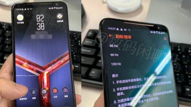 Another image shows that the phone can reduce and switch between refresh rate of the screen from 120Hz to 90Hz and 60Hz.