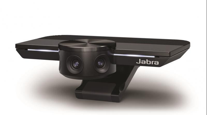 Jabra PanaCast is the world's first intelligent panoramic video collaboration device with three 13-megapixel cameras.