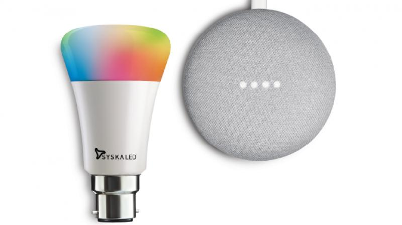 Syska Smart LED Bulbs are Wi-Fi enabled and compatible with Google Assistant.