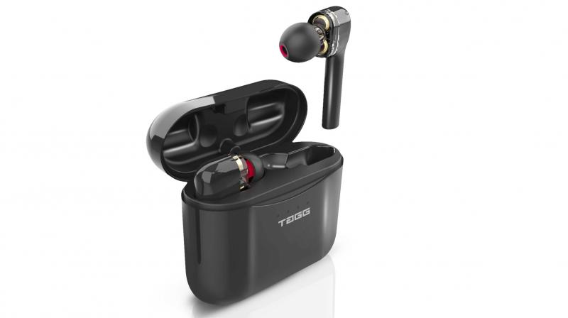 Each earbud weighs just 7 grams but houses a 40 mAh battery that is good for about 5 hours of listening.