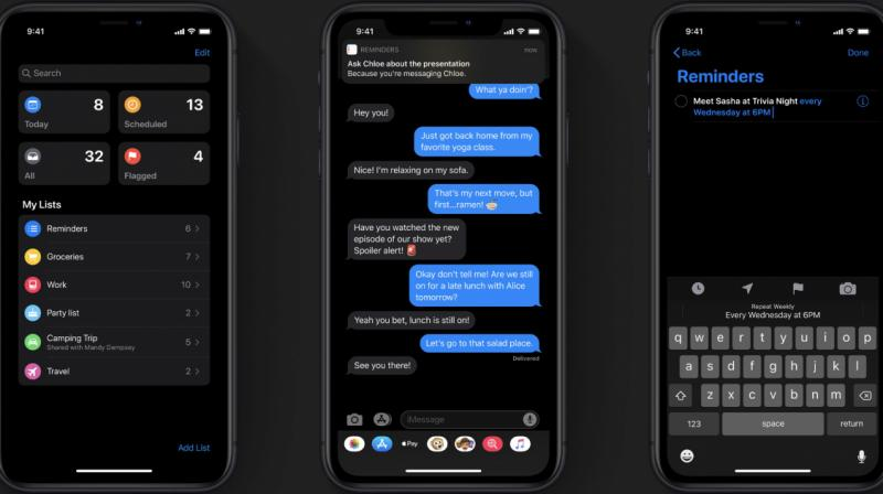 iOS 13 is not all about privacy though, and other changes include aesthetic ones like the new Dark Mode that utilises the OLED panels on the iPhone 11 Pro and Pro Max. (Photo: TechRadar)