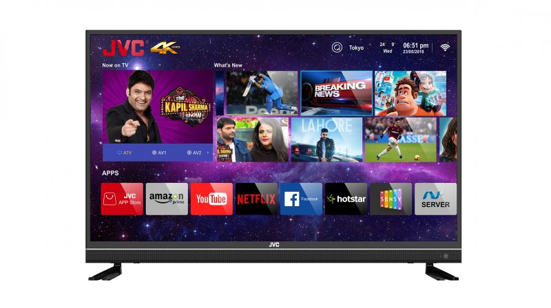 The TV also features Dolby-certified speakers (20W + 20W) and an in-built Soundbar.
