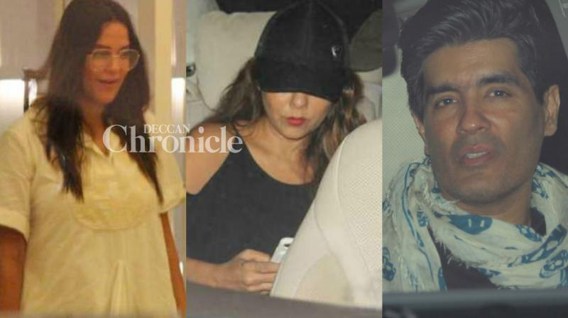 Karan Johar hosted a bash for his friends from the film industry and several of them were snapped while arriving at the venue late Monday in Mumbai. (Photo: Viral Bhayani)