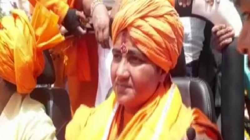 'As per the decorum of public life and to repent, I am observing a 21-prahar silence and will undergo hard penance,' said Sadhvi Pragya Singh Thakur. (Photo: ANI)