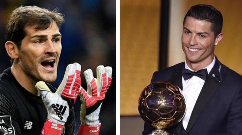 Former Spain and Real Madrid goalkeeper Iker Casillas has stated that it would be unfair if Cristiano Ronaldo wins the 2019 Ballon d'Or award. (Photo:AFP)