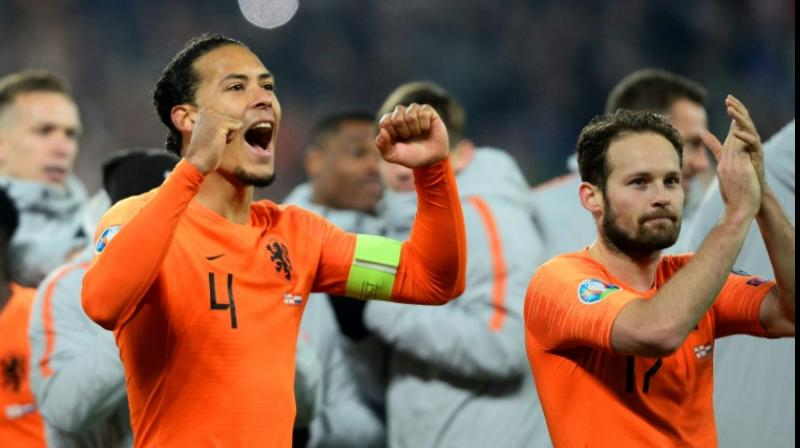 Netherlands captain Virgil van Dijk will miss Tuesday's Euro 2020 qualifier against Estonia for personal reasons, the Dutch federation announced on Sunday. (Photo:AFP)