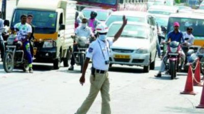 However, traffic officials in Cyberabad denied that campaign vehicles were causing traffic jams in the area.