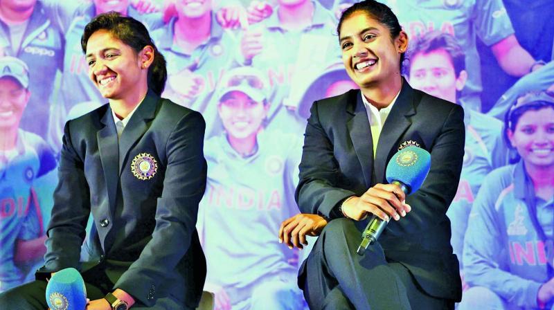 Harmanpreet Kaur and Mithali Raj.