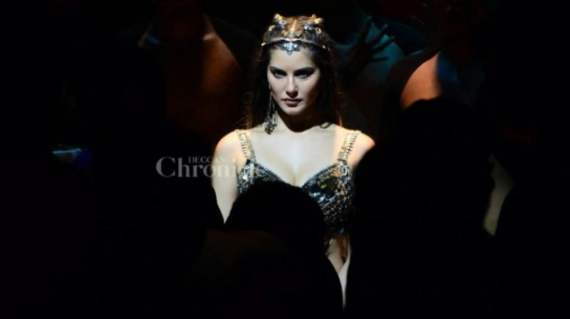 Sunny Leone in a still from 'Bhoomi's 'Trippy Trippy'.