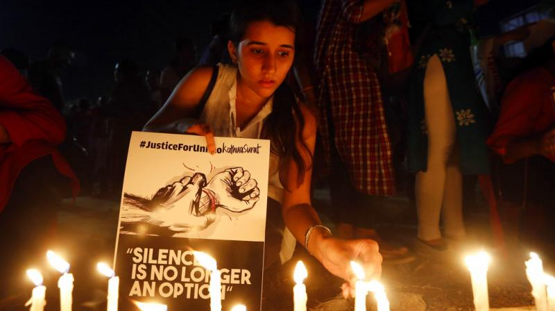 Outrage has been triggered across nation by rape and murder of 8-year-old girl in Kathua and abduction and rape of teenage girl in India's northern Uttar Pradesh state. (Photos: AP/ PTI)