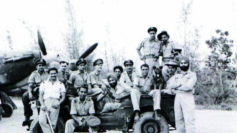 No 1 Squadron of the IAF at the crucial battle of Imphal in 1944.  Their CO, Squadron Leader Arjan Singh, later the iconic five-star Marshal of the IAF, is at the wheel of the jeep;