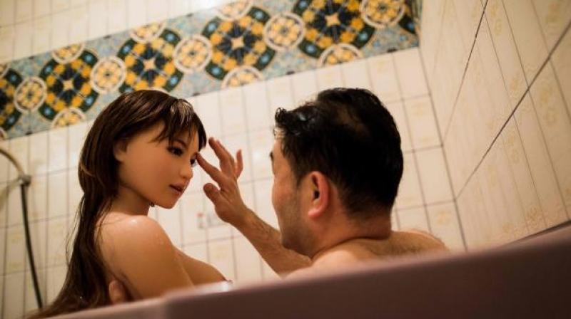 Japanese girl in shower