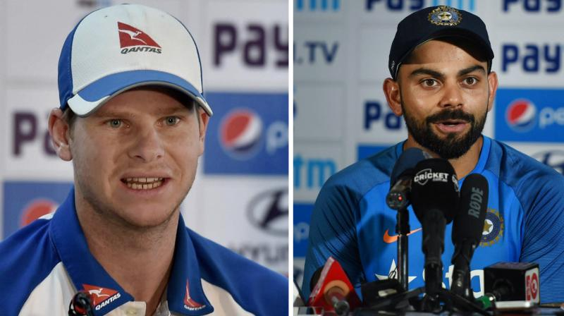 Virat Kohli alleged that some Australian players unnecessarily taunted the Indian team physio Patric Farhart but Australian skipper Steve Smith denied the claim after the end of third India-Australia Test in Ranchi. (Photo: PTI)