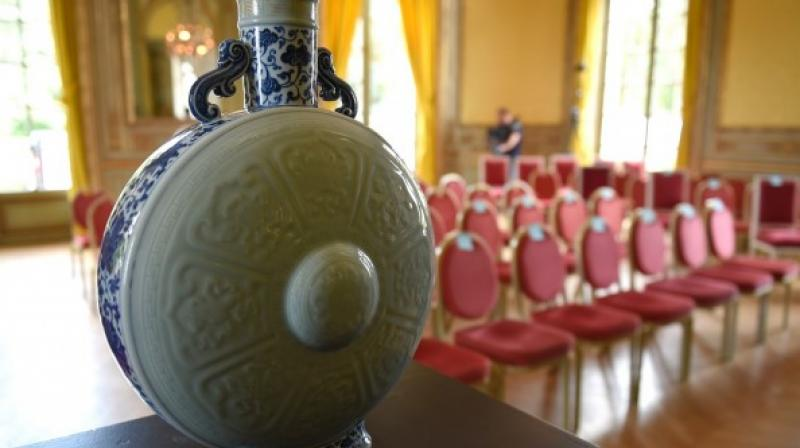 It was discovered by chance in April in a French castle during a valuation of antiques (Photo: AFP)