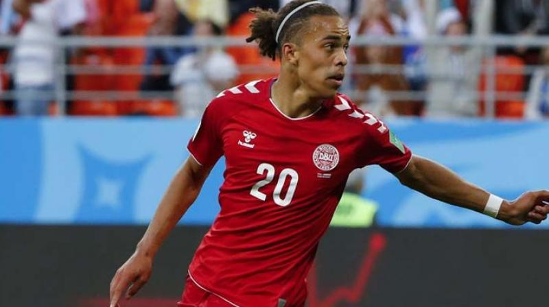 Yossuf Poulsen secured three points for Denmark in their opening game against Peru. (Photo: AFP)