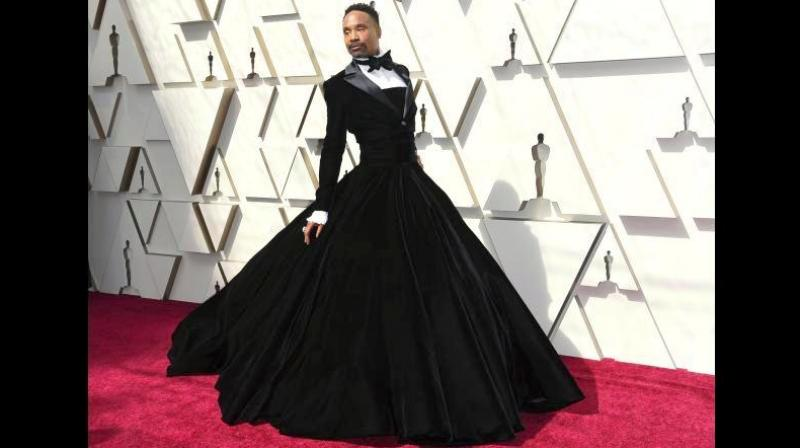 Billy Porter in a tuxedo-gown by Christian Siriano at 91st Academy Awards. (Photo: AP)