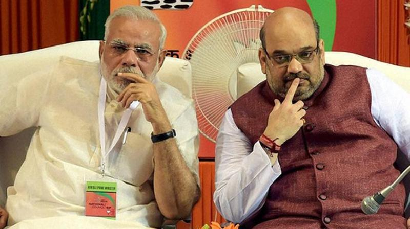 Image result for pics of amit shah + Narendra Modi
