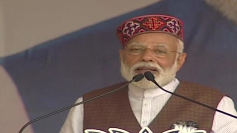 Modi also accused the Manmohan Singh-led Congress government of misleading former soldiers over the one rank, one pension scheme.  (Photo: ANI twitter)