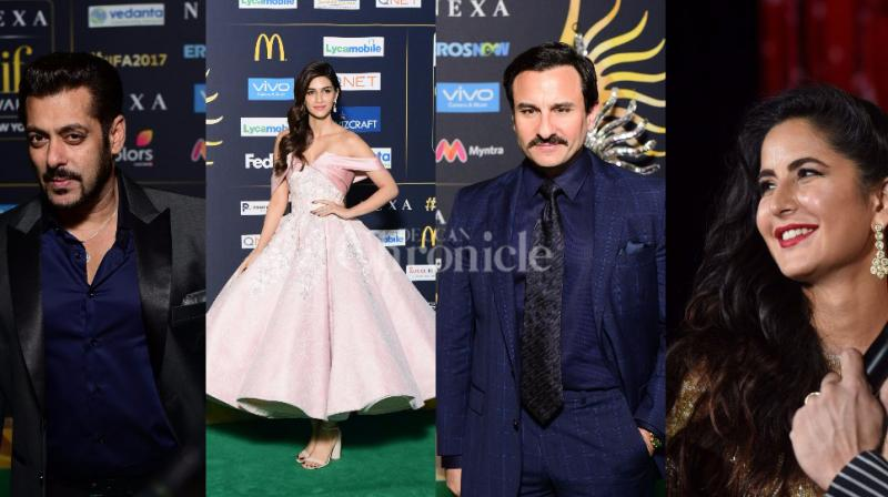 While Salman, Kriti and Katrina will be perfomring at the event, Saif can be seen entertaining the guests as the host.