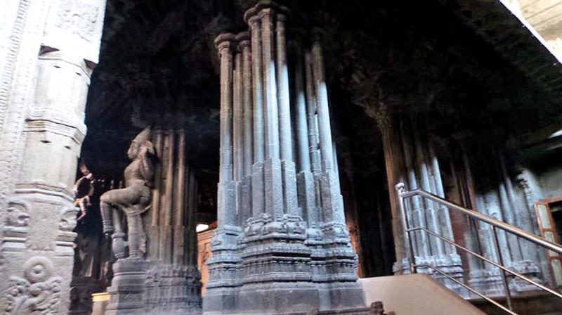 The musical pillars at Arulmigu Nellaiappar Temple,Tirunelveli. (Source:Internet)