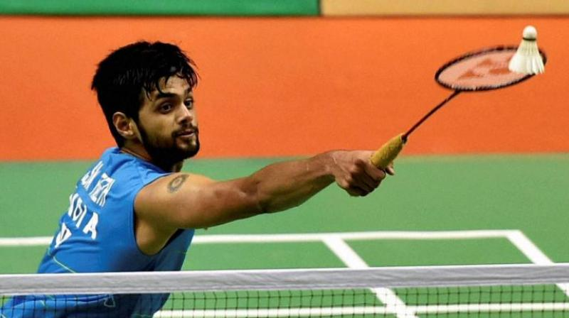 Indian shuttler Sai Praneeth defeated Indonesia's Tommy Sugiarto 15-21, 21-12, 21-10 in the first round match of the Fuzhou China Open on Wednesday. (Photo: PTI)