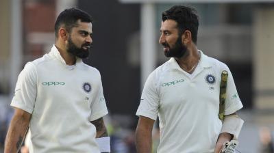 Virat Kohli and Cheteshwar Pujara will be crucial to India's chances after the early dismissals of Murali Vijay and KL Rahul on Day 2 of the second Test against Australia in Perth. (Photo: AP)