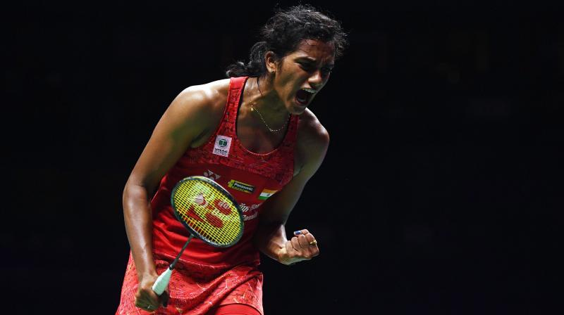PV Sindhu, who finished runner-up at the last edition, staved off a strong challenge from the fighting Ratchanok Intanon to emerge a 21-16 25-23 winner in 54 minutes. (Photo: AFP)