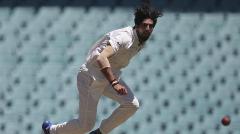 Ishant Sharma took the wickets of Starc (6) and Hazlewood (0) with successive balls to finish with 4-41, his best figures in Australia. (Photo