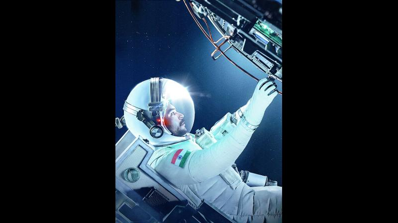 On the occasion of Independence Day, the makers released the first look of the film with Varun Tej as an astronaut working in space.