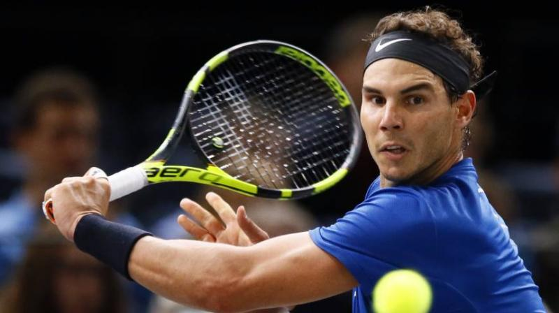Nadal is looking for his maiden title on the Bercy hard courts, which would take him clear of Novak Djokovic with a record 31st Masters triumph. (Photo: AP)