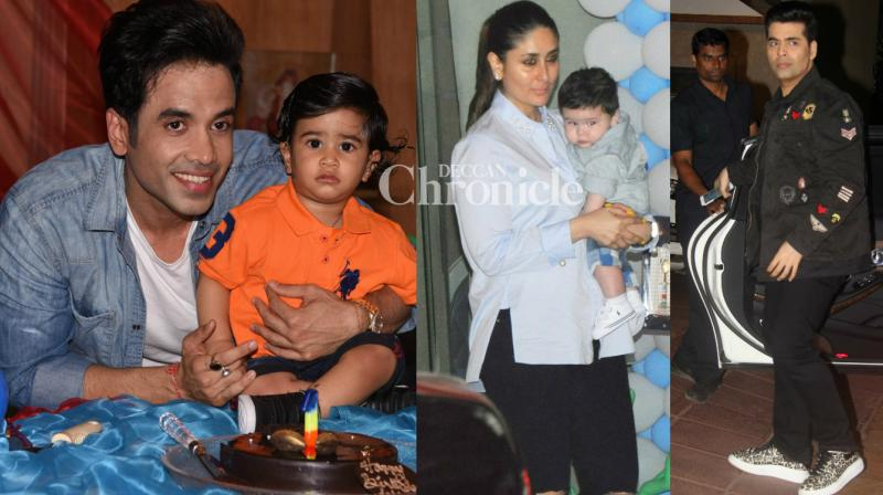 Tusshar Kapoor's son Lakkshya turned a year older on Thursday, with celebrities gracing the occasion in Mumbai. (Photo: Viral Bhayani)