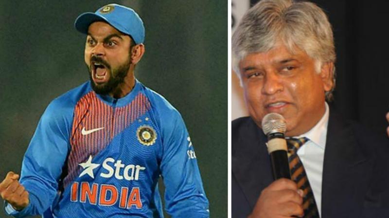 Former Sri Lanka captain Arjuna Ranatunga has said that Team India captain Virat Kohli could be sober when it comes to leading the national side.(Photo: AFP)