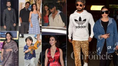 Bollywood celebs like Ranveer Singh, Arjun Kapoor, Malaika Arora, Vicky Kaushal, Vidya Balan, Taimur and others were spotted in the city. (Pictures: Viral Bhayani)