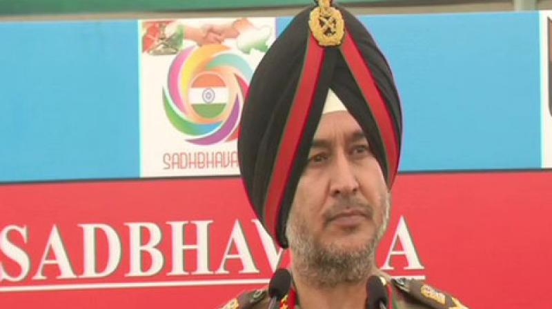 Singh was addressing a press conference here in which he was asked about Congress' claims of conducting six surgical strikes during the UPA regime. (Photo: ANI)