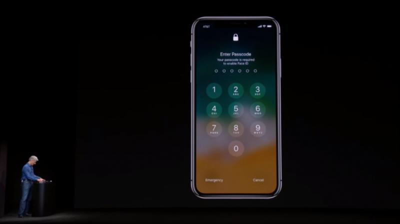 Before the presentation, many Apple employees were playing with the device, trying to see if the FaceID works the way it was intended to.