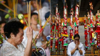The Nine Emperor Gods Festival is a nine-day Taoist celebration beginning on the eve of 9th lunar month of the Chinese calendar, and is celebrated primarily in Myanmar, Malaysia, Thailand and Indonesia. (Photos: AP)