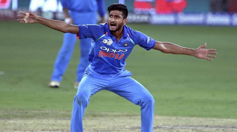 Khaleel made his debut during India's victorious Asia Cup campaign in Dubai and his ability to swing the ball at a fair pace impressed none other than stand-in captain Rohit Sharma. (Photo: AP)